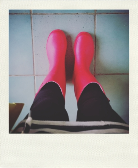 new red gumboots