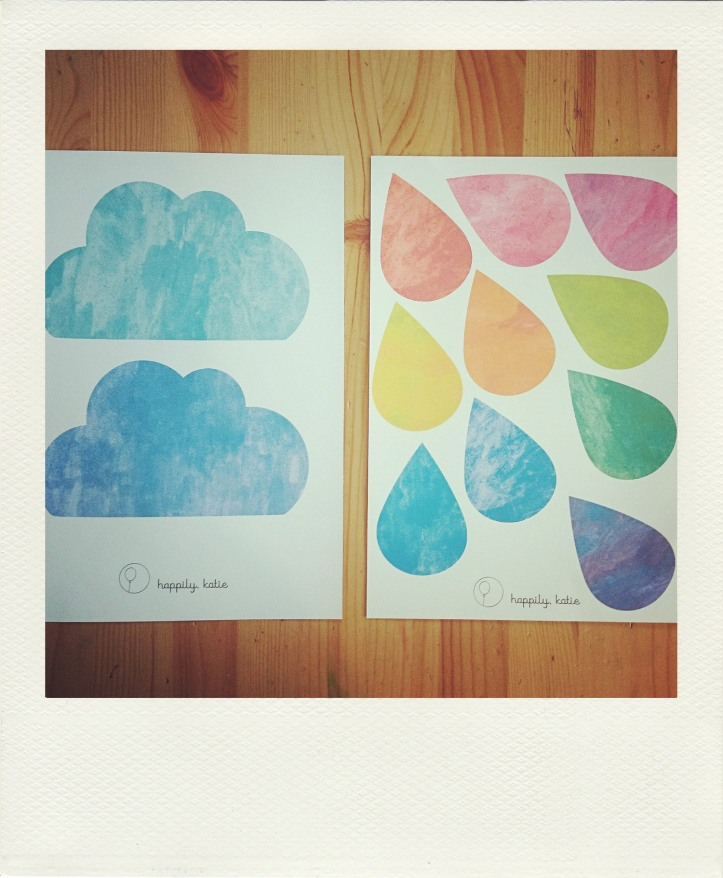 print copy of cloud rainbow bunting
